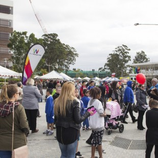 Big crowds enjoy the Open Day festivities in Riverwood