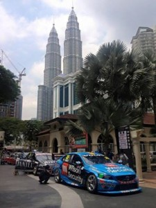 Volvo S60 V8 Supercar in the streets of Kuala Lumpur