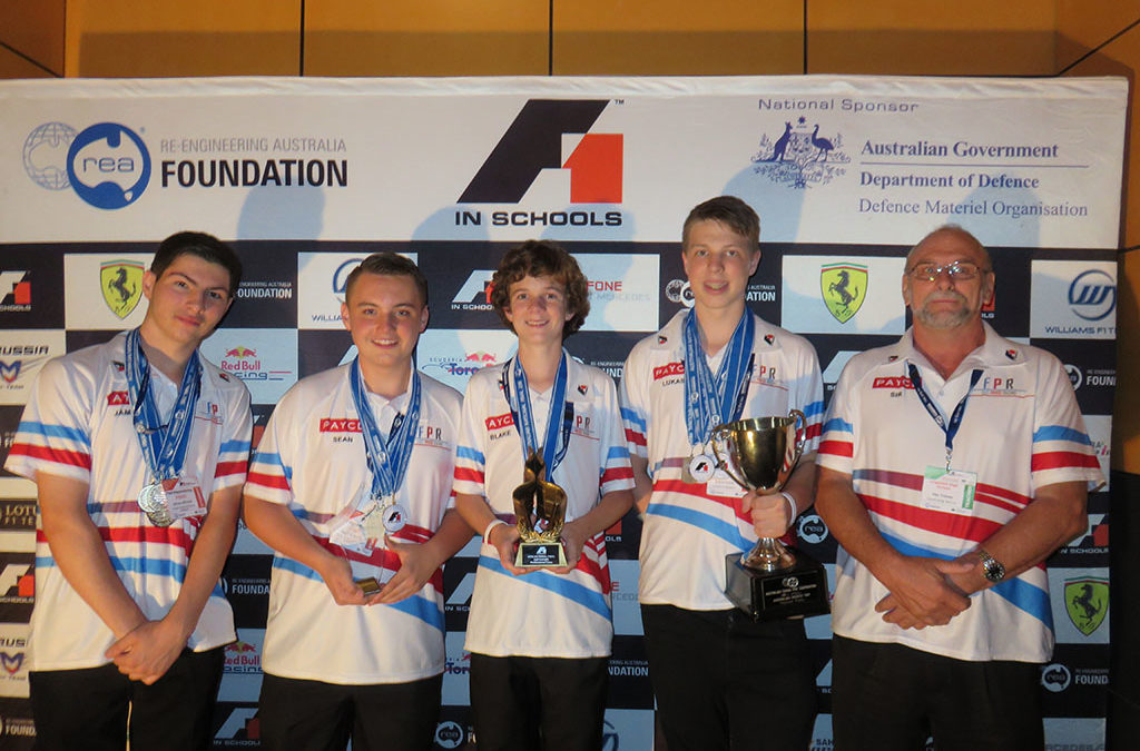 Engadine High's F1 racers win multiple awards at National Titles