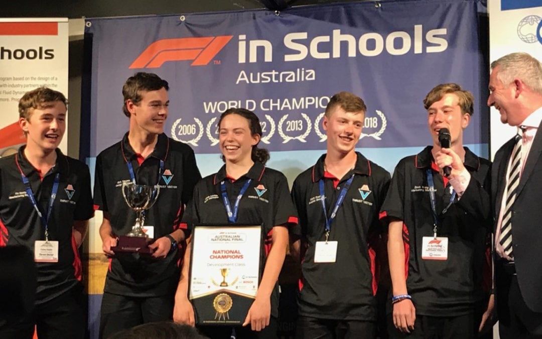 Thrust Vector Crowned F1 School Champs