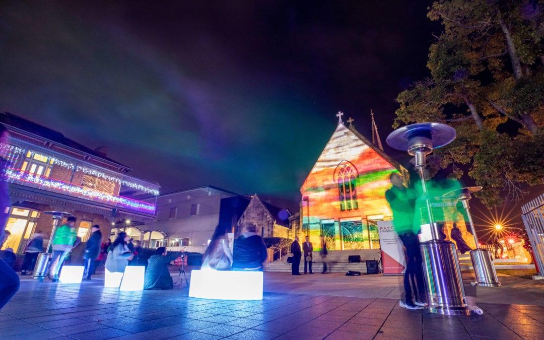 Light up St Pat's returns to Parramatta Winterlight Festival