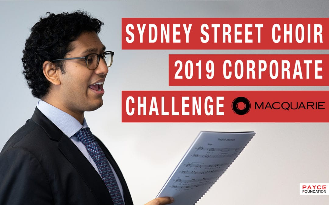 Macquarie Group rehearse with Sydney Sydney Street Choir