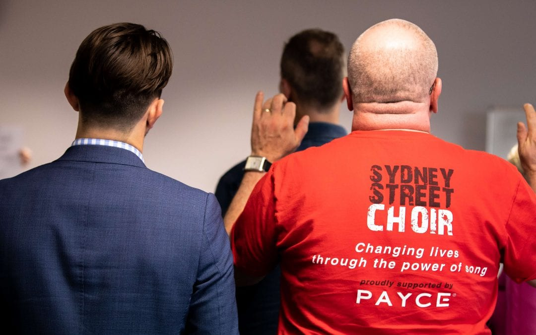 PAYCE sing with Sydney Street Choir