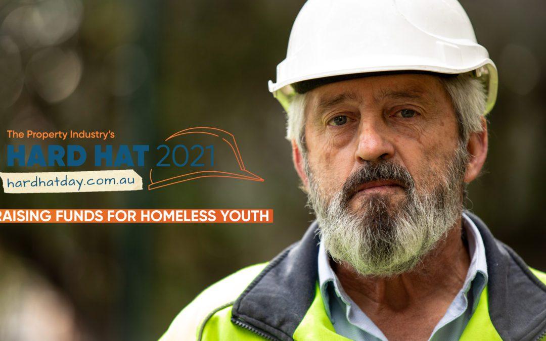Kick Start team back homeless youth fundraiser Hard Hat Day